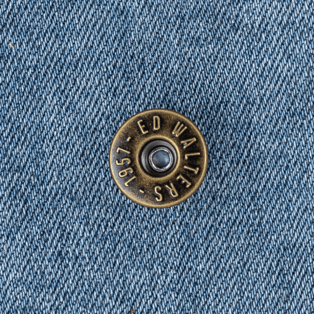 Antique Brass Jeans Button with Embossed Design
