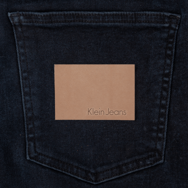Light Tan Patch with Debossed Logotype